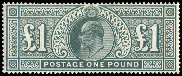 Great Britain King Edward VII 1902 £1 Dull blue green, SG266