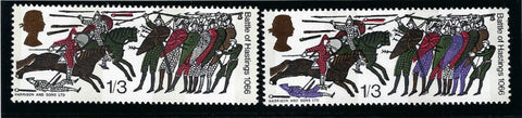 Great Britain 1966 Queen Elizabeth II 1s3d Battle of Hastings (Phosphor) SG712pa.