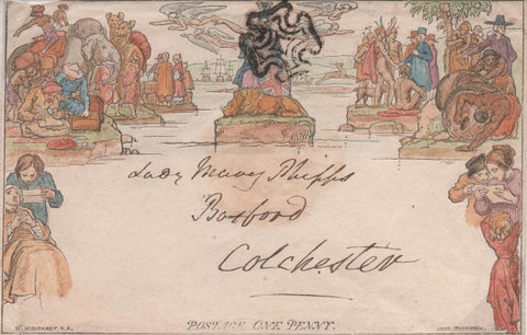 Great Britain 1840 1d Mulready envelope, SG ME2