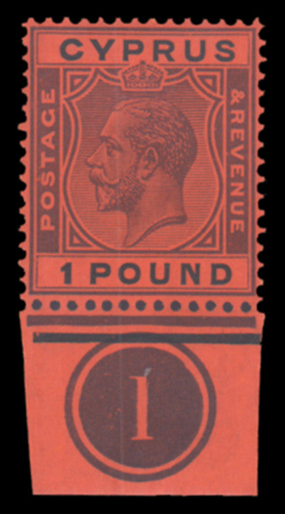 Cyprus 1924-28 £1 purple and black/red, SG102