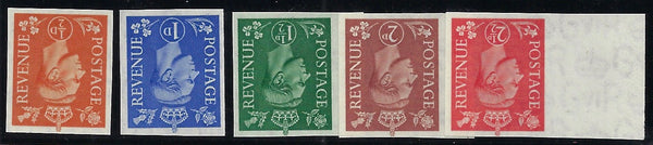 Great Britain 1950-52 ½-2½d (new colours, watermark inverted). SG503/7wivar