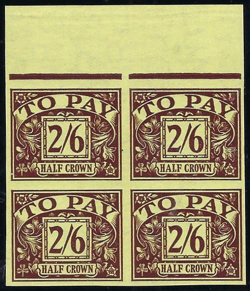 Great Britain 1937 2s6d Postage Due.  SG D26var
