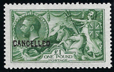 Great Britain 1913 King George V £1 yellowish green, SG403var