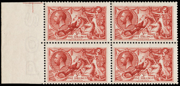 Great Britain 1913 King George V 5s Rose carmine, SG401