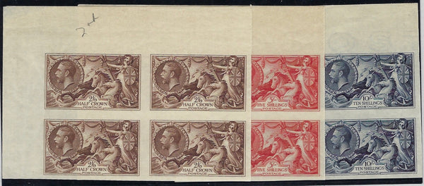 Great Britain 1934 2s6d-10s Seahorses SG450/2var
