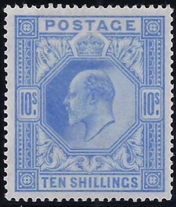 Great Britain 1902 10s Ultramarine. SG265