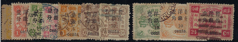 China 1897 (Jan) small figure surch on Dowager first printing. SG37/46