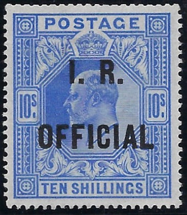 Great Britain 1902 10s Ultramarine (I.R. Official). SG O26