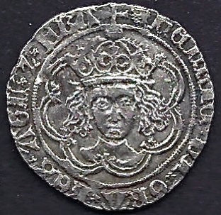 Henry VI AR Groat 1445-54 London. Good very fine