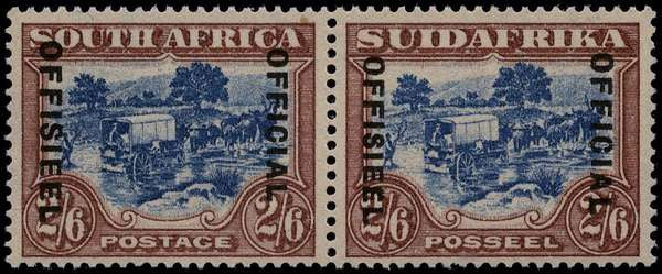 South Africa 1930-47 2s6d blue and brown, SGO19b
