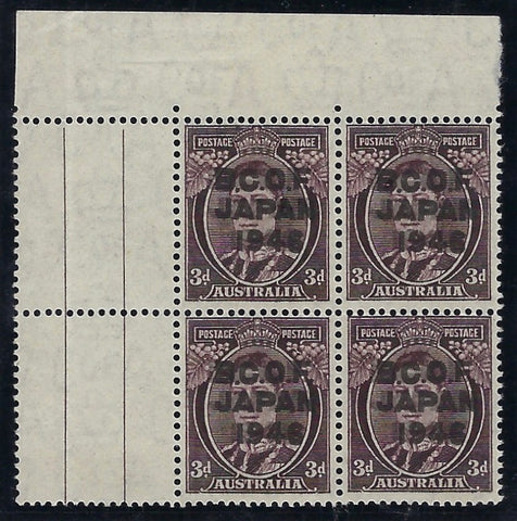 Australia B.C.O.F. 1946-48 3d Purple-brown SG J3a