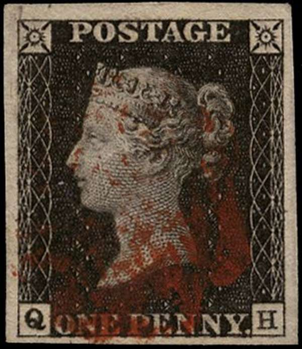 Great Britain 1840 1d black, Plate 1b, SG2