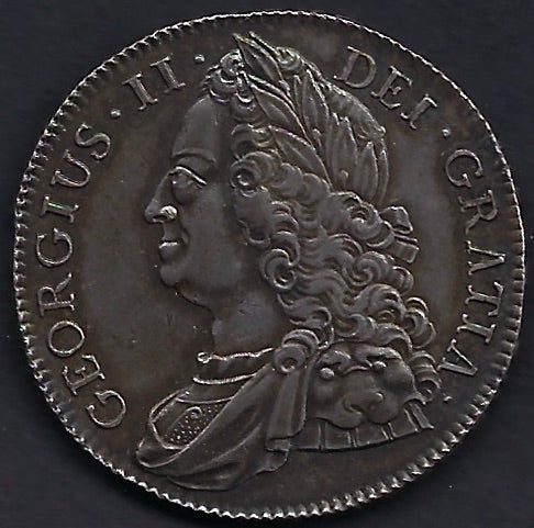 Great Britain 1727-1769 George II Crown. GEF