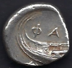 Lycia, Phaselis AR Stater 4th c bc. Good very fine.