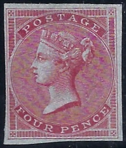 Great Britain 1855 4d Carmine Plate 2, SG62var Plate 2