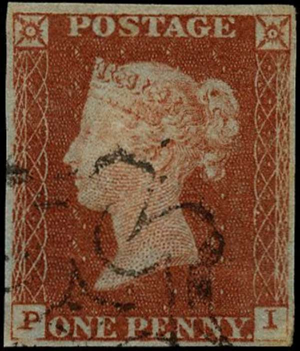 Great Britain 1841 1d red-brown, plate 34, SG8