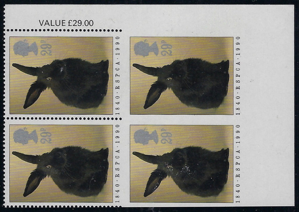 Great Britain 1990 20p 150th Anniversary of the RSPCA. SG1480a