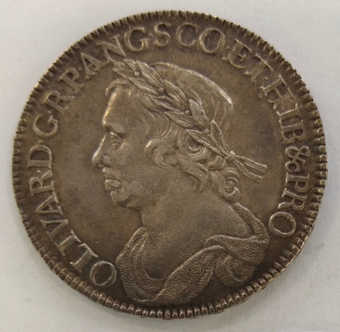 England, Cromwell – 1658 Silver Half Crown