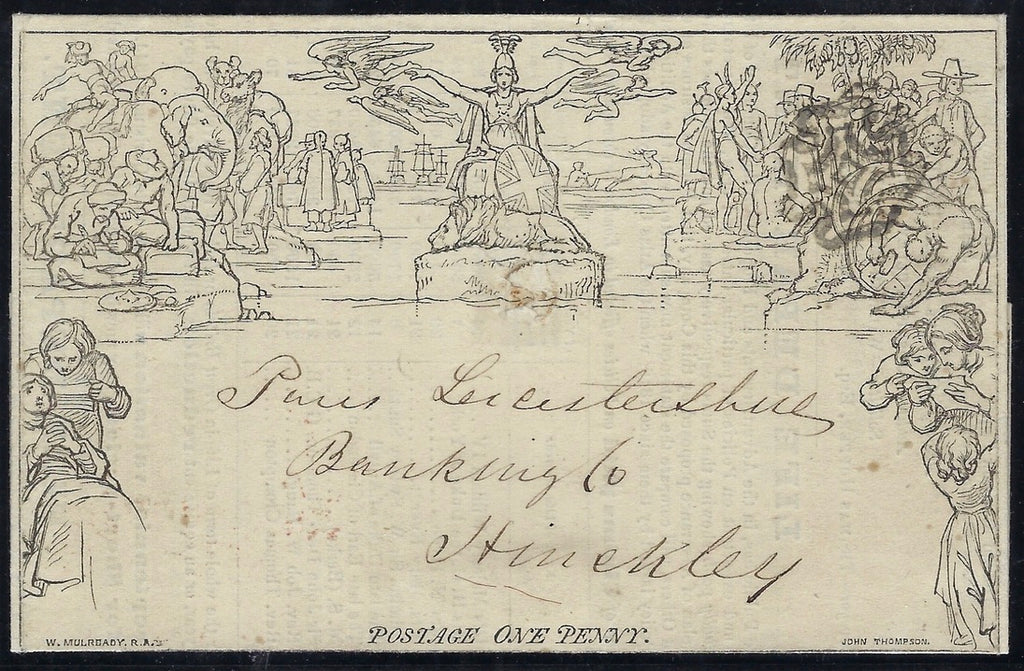 Great Britain 1840 1d Mulready Lettersheet (Forme 6, Stereo A239).  SG ME1