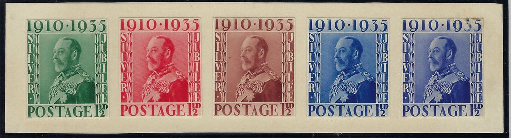 Great Britain 1935 1½d Silver Jubilee design essays. SG455var