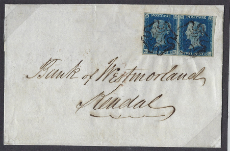 Great Britain 1840 2d Blue Plate 5. SG5.
