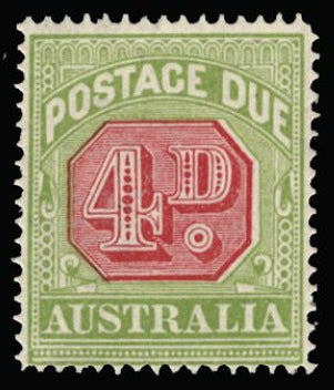 Australia 1912-23 4d carmine and pale yelllow-green SGD83b