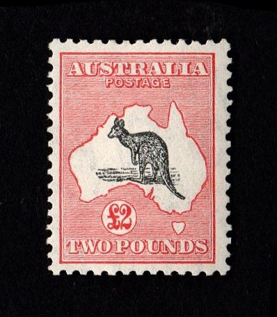 Australia 1931-36 £2 black and rose SG138