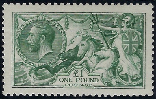 Great Britain 1913 Dull blue green. SG404