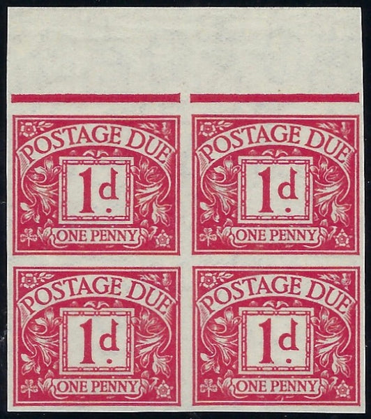 Great Britain 1937 1d Postage Due.  SG D20var