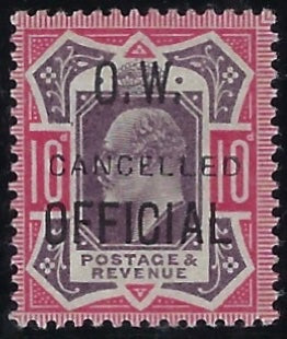 Great Britain 1903 10d Dull purple & carmine (O.W. Official). SG O40var