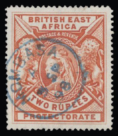 British East Africa 1897-1903 2r orange SG93