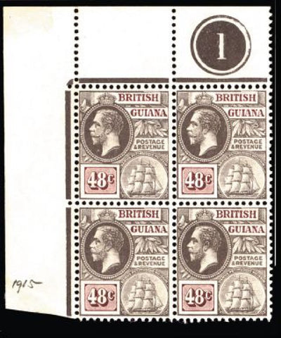 British Guiana 1913-21 48c grey and purple-brown SG266