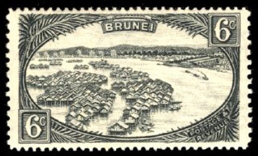 Brunei 1941 6c greenish grey
