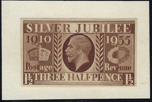 Great Britain 1934 1½s Silver Jubilee colour trials  SG455var