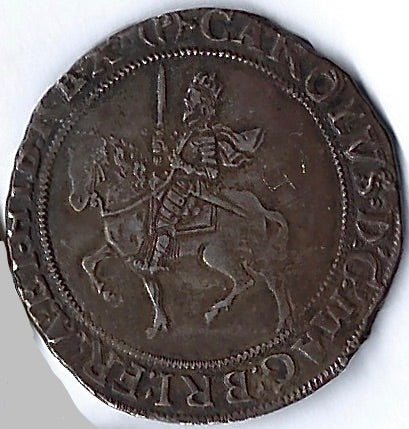 Charles I AR Half crown. Tower mint under parliament. Good extremely fine