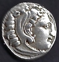 Macedon Alexander The Great posthumous  AR 2 1dr Kolophos Good Extremely Fine