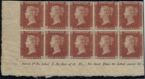 Great Britain 1841 1d red brown Plate 10. SG7 PL10