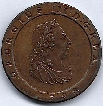 Isle of Man AE 1/20 PROOF 1798 Uncirculated