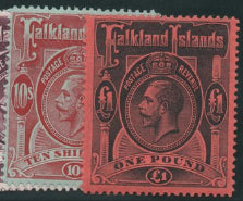 Falkland Islands 1912-20 set of 10, Mint SG60-69