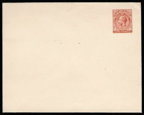 Falkland Islands 1929 1d red Postal Stationery envelope
