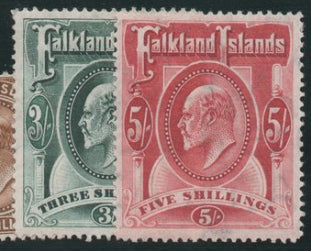 Falkland Islands 1904-12, set of 8, Mint SG43-50