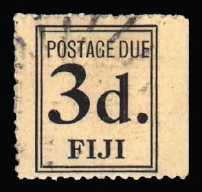 Fiji 1917 Postage Due 3d black SGD4