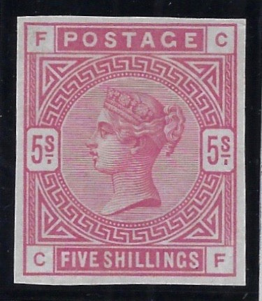 Great Britain 1884 5s Rose Imprimatur.  SG176var