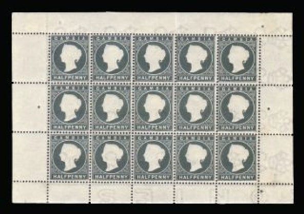 Gambia 1886-93 ½d grey-green SG22