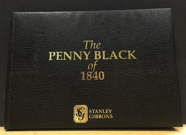 Great Britain used Penny Black housed in an attractive leather wallet SG2