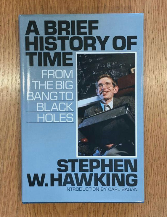 Stephen Hawking thumbprint signed A Brief History of Time