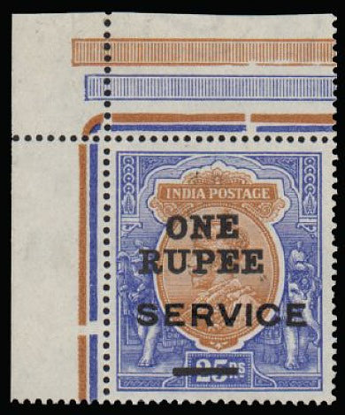 India 1925 Surcharge essay