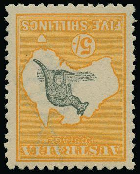 Australia 1915 5s grey and yellow SG30w
