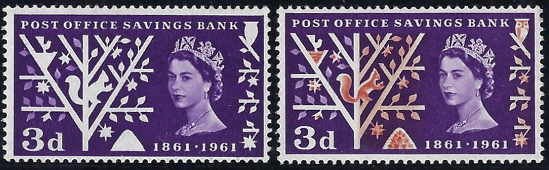 Great Britain 1961 3d Post Office Savings Bank (Timson Printing). SG624Aa