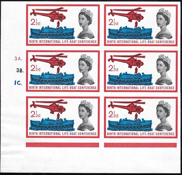 Great Britain 1963 2½d Ninth International Lifeboat Conference (Ordinary). SG 639var